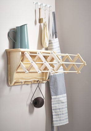 Pulleymaid Wall Mounted Extending Clothes Airer Indoor